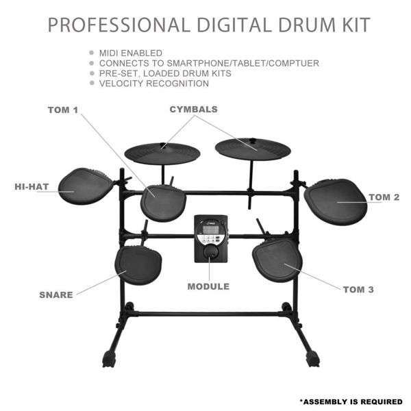 Pylepro Ped021m Electronic Drum Set Review